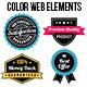 Colorful Web Elements Set