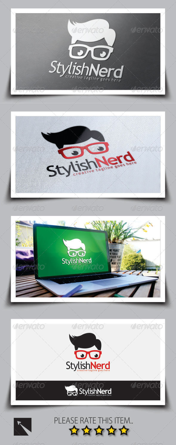 GraphicRiver Stylish Nerd Logo Template 8748694