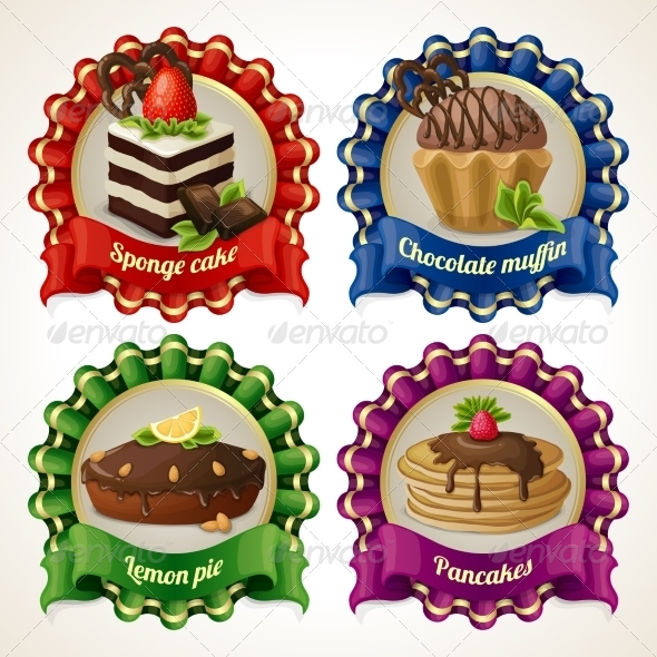 GraphicRiver Sweets Ribbon Banners 8748998