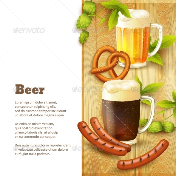 GraphicRiver Beer and Snacks Border 8749004