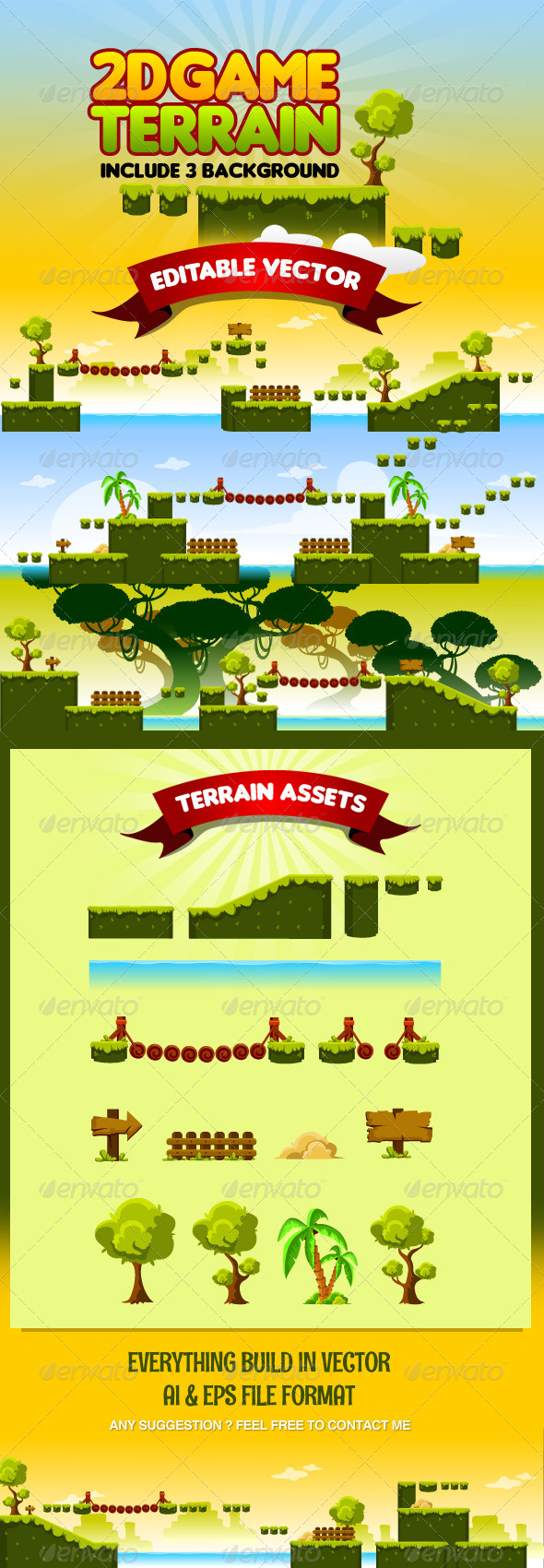 GraphicRiver 2D Game Terrain 8749076