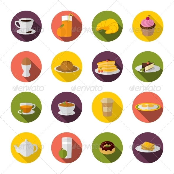 GraphicRiver Breakfast Icon Flat 8749082