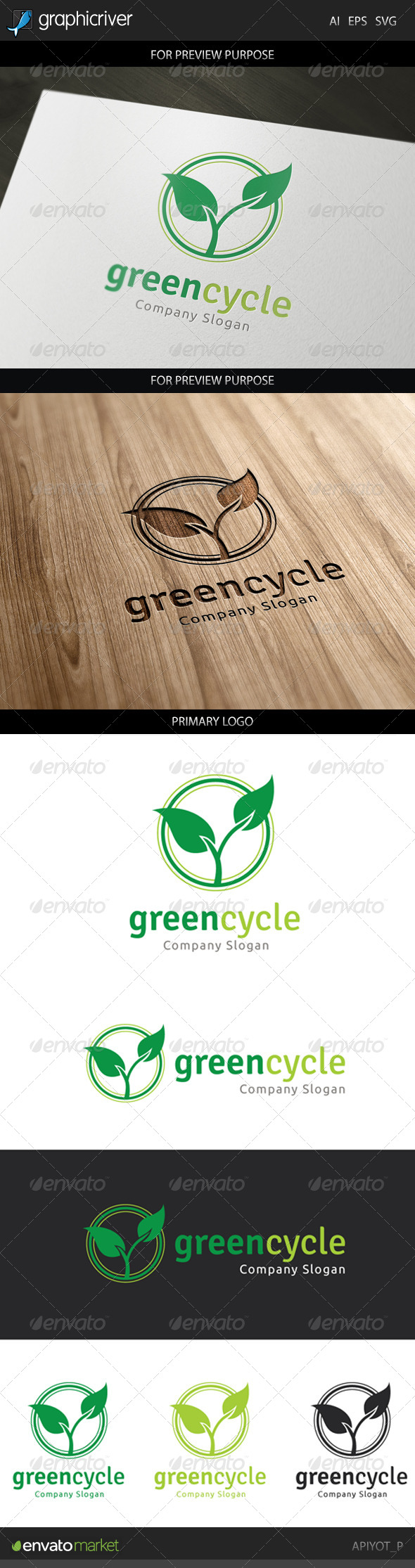 GraphicRiver Green Cycle Logo 8749392
