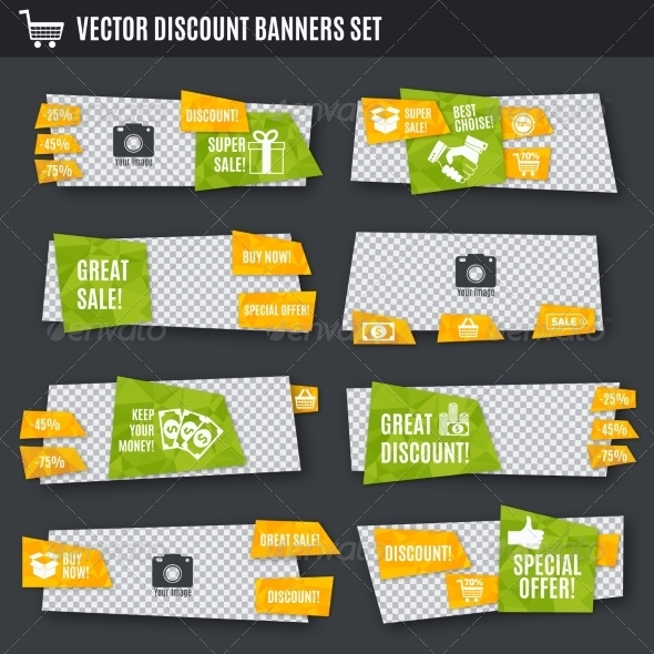 GraphicRiver Discount Banners Set 8749408