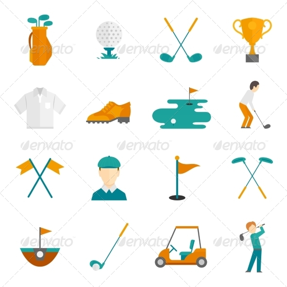 GraphicRiver Golf Icons Set 8749483