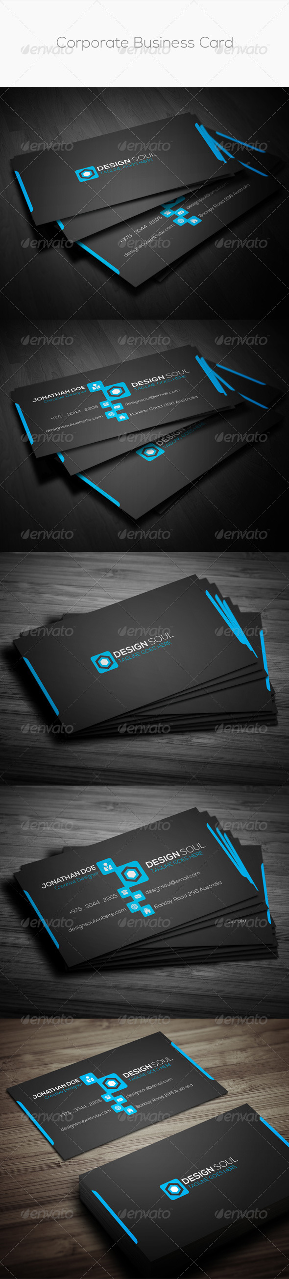 GraphicRiver Corporate Business Card 8745391