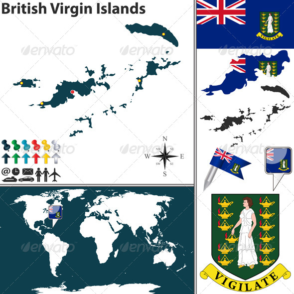 GraphicRiver Map of British Virgin Islands 8750907