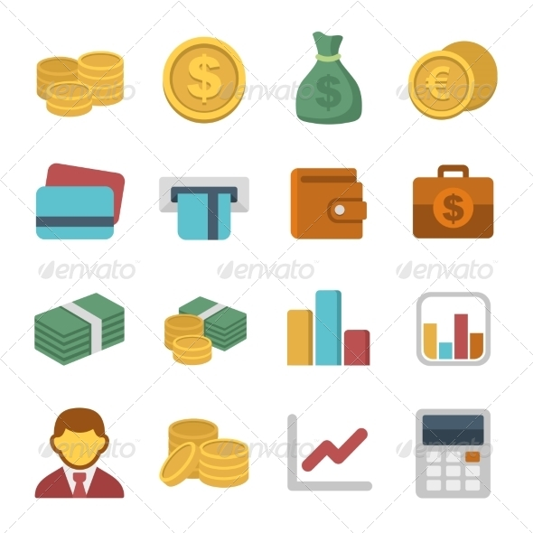 GraphicRiver Money Color Icon Set 8751071