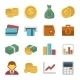 Money Color Icon Set - GraphicRiver Item for Sale