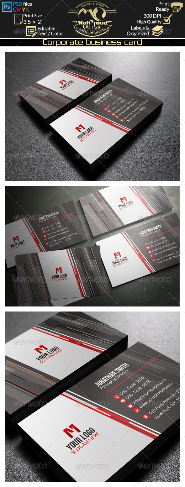 GraphicRiver Corporate Business Card 44 8751548