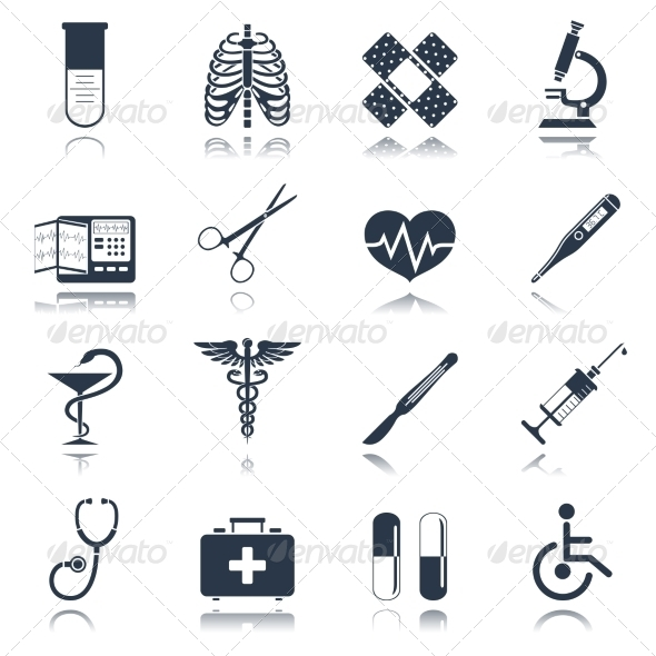 GraphicRiver Medical Icons Set 8751567