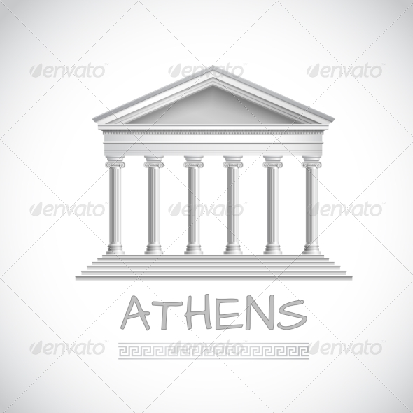 GraphicRiver Athens Temple Emblem 8751578