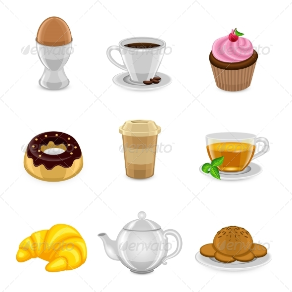 GraphicRiver Breakfast Icon Set 8751587