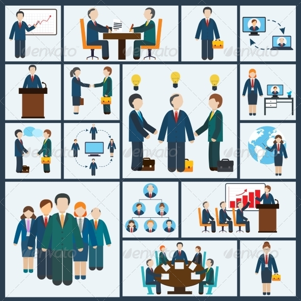 GraphicRiver Meeting Icons Set 8751598