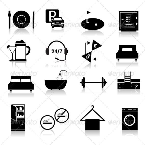 GraphicRiver Hotel Icons Set 8751629