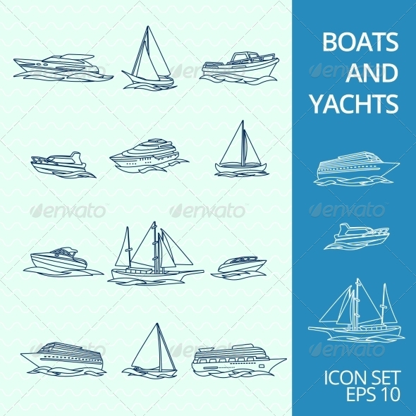 GraphicRiver Boats Icons Set 8751635