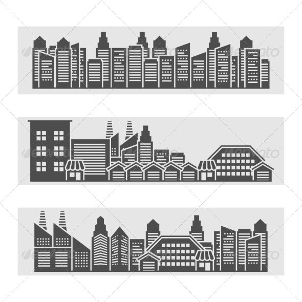 GraphicRiver Cityscape Icons Banner 8751639