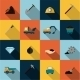 Mining Icons Set Flat - GraphicRiver Item for Sale