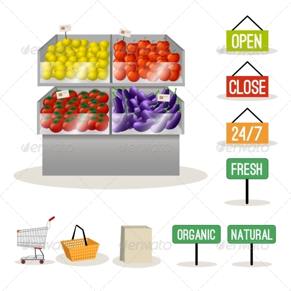 GraphicRiver Supermarket Fruits and Vegetables 8751656