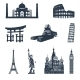 World Famous Landmarks Black - GraphicRiver Item for Sale