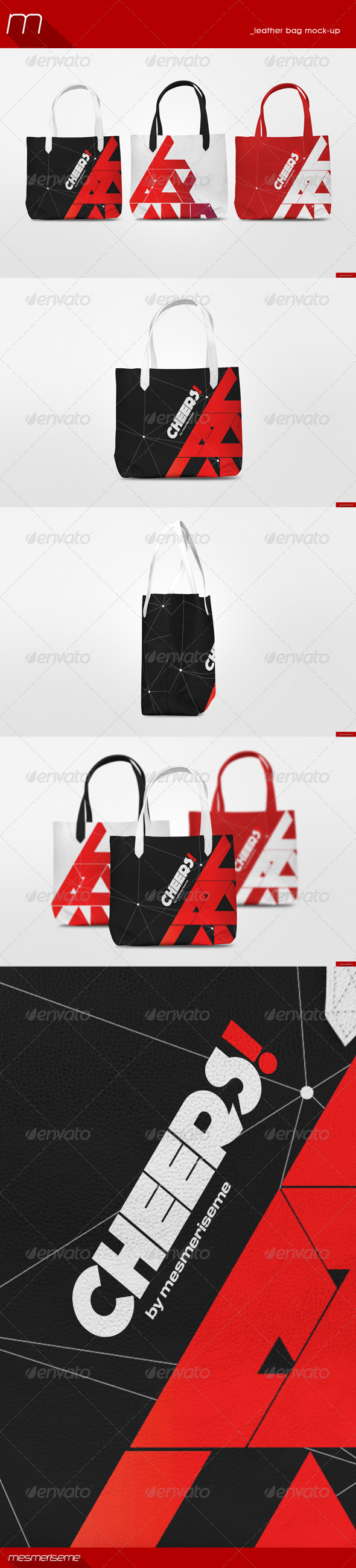 GraphicRiver Leather Bag Mock-Up 8751687
