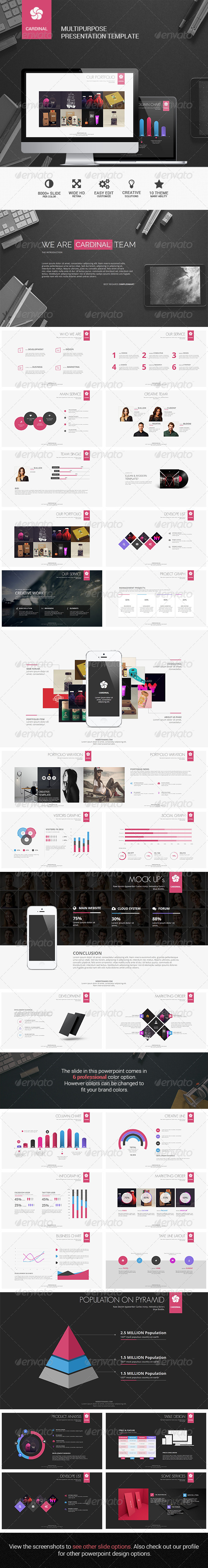 GraphicRiver Cardinal Multipurpose Presentation Template 8751695