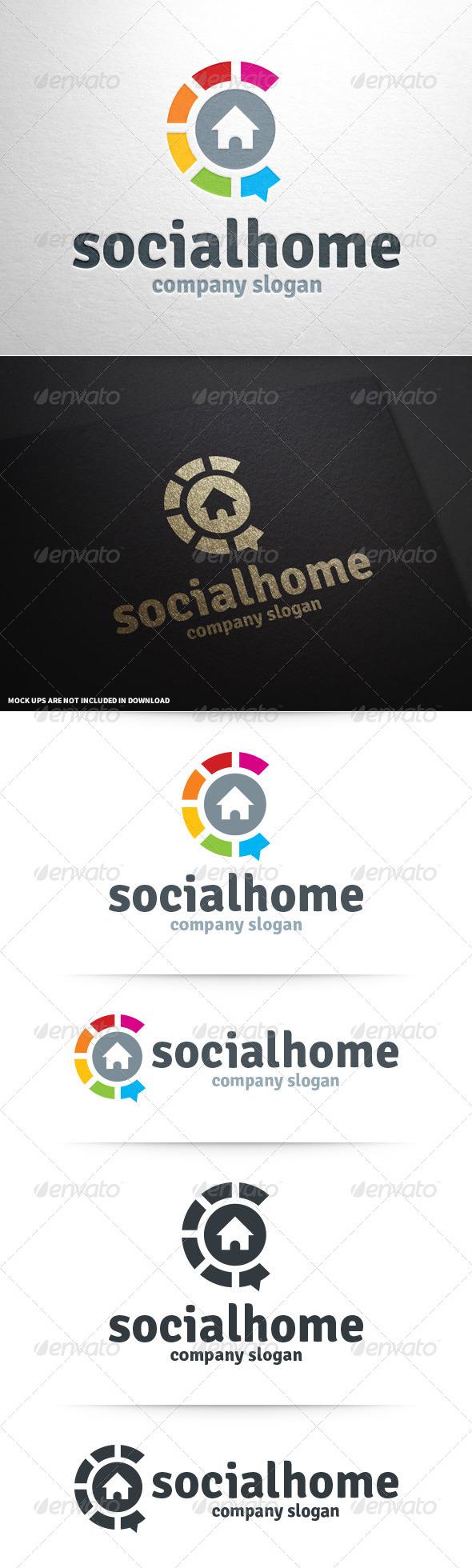 GraphicRiver Social Home Logo Template 8751693