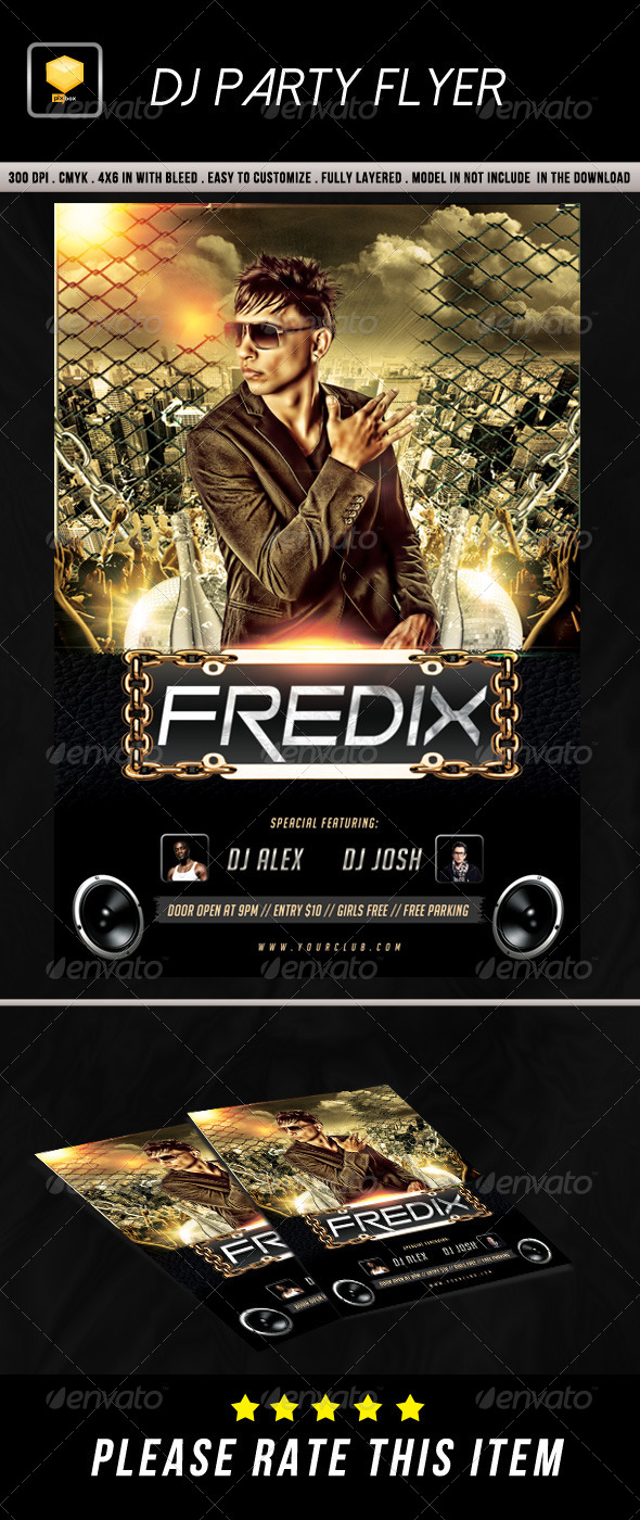 GraphicRiver DJ Party Flyer 8738942
