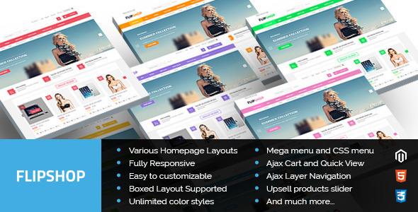 ThemeForest Flipshop Multipurpose Responsive Magento Theme 8751725