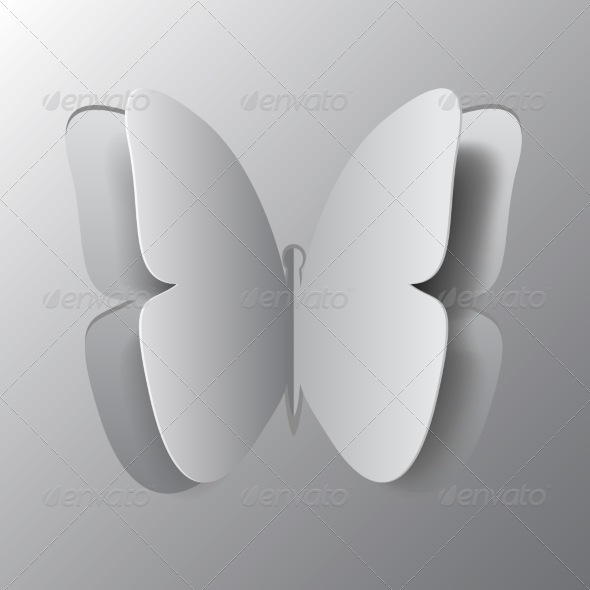 GraphicRiver Concept of Origami Butterfly Cut the Paper 8751748