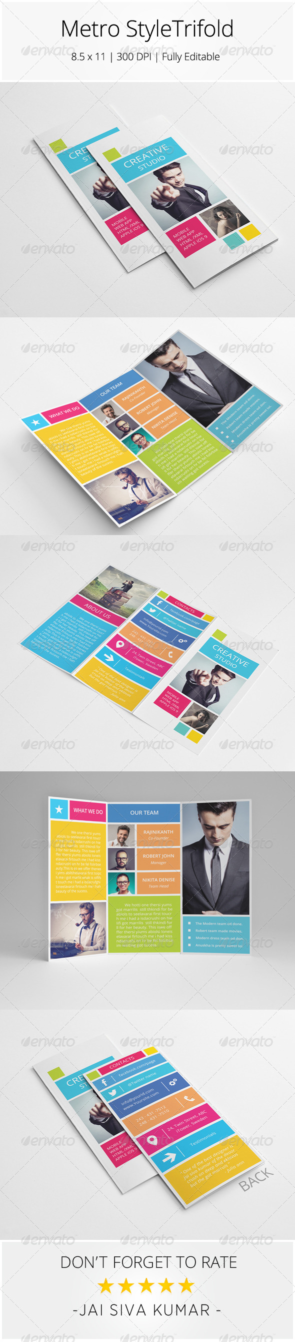 GraphicRiver Metro Style Trifold Brochure 8751768