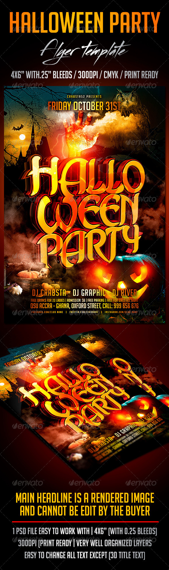 GraphicRiver Halloween Party Flyer Template 8751897