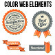 Orange-Black Web Elements Set