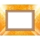 Blank Frame on a Colored Wall Lighting Spotlights - GraphicRiver Item for Sale