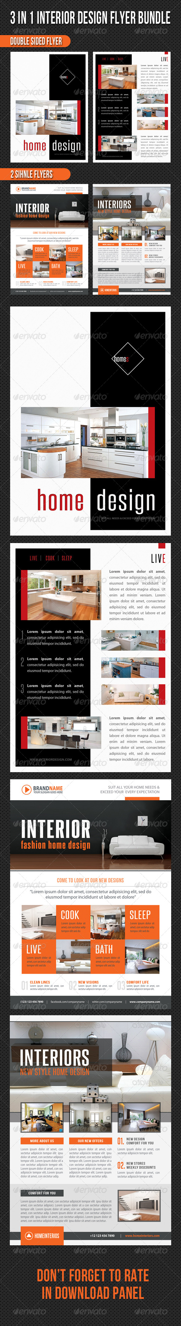 GraphicRiver 3 in 1 Interior Product Flyer Bundle 05 8752102