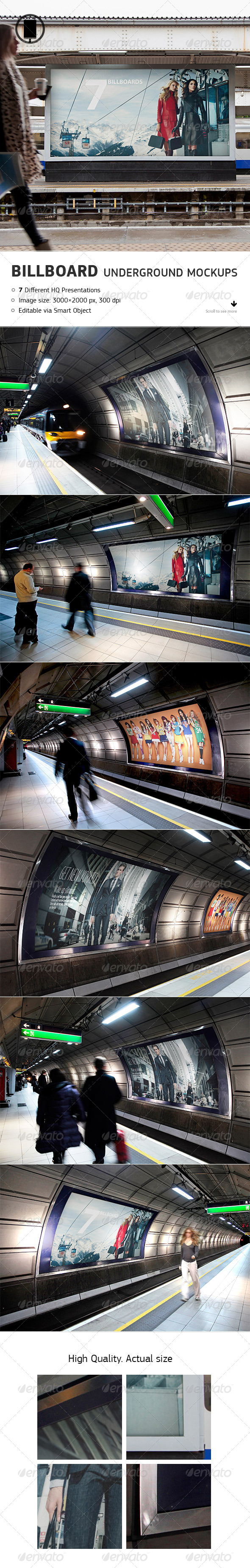 GraphicRiver Billboard Underground Metro Subway Mock-Up 8752105