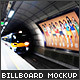 Billboard - Underground, Metro, Subway Mock-Up - GraphicRiver Item for Sale