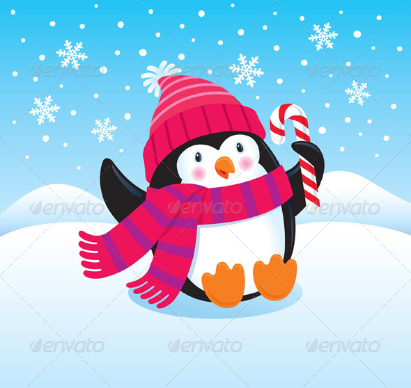 GraphicRiver Happy Penguin 8752222
