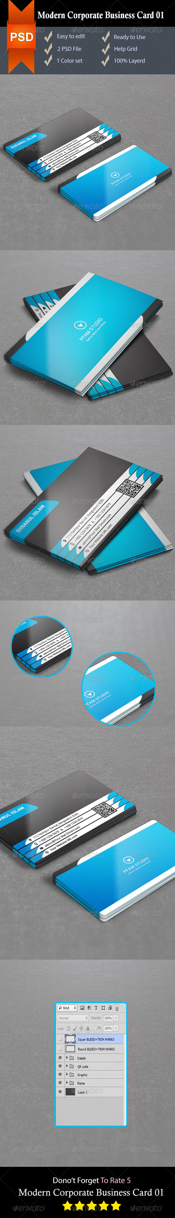 GraphicRiver Modern Corporate Business Card 01 8752282