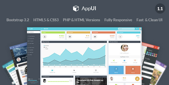 AppUI - Bootstrap Admin Web App Template - Admin Templates Site Templates