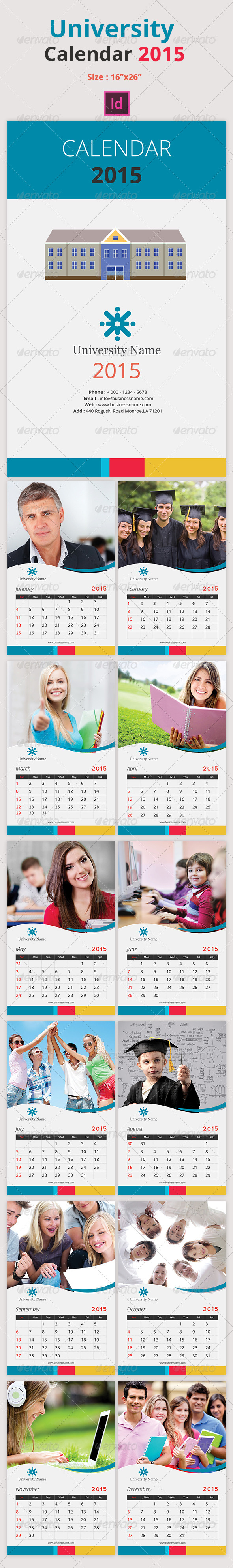 GraphicRiver University Calendar 2015 8752305