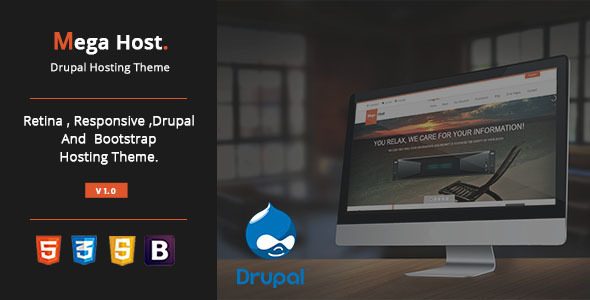 ThemeForest MegaHost Responsive Hosting Drupal 7 Theme 8752336