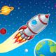 Rocket Blasting Through Space - GraphicRiver Item for Sale