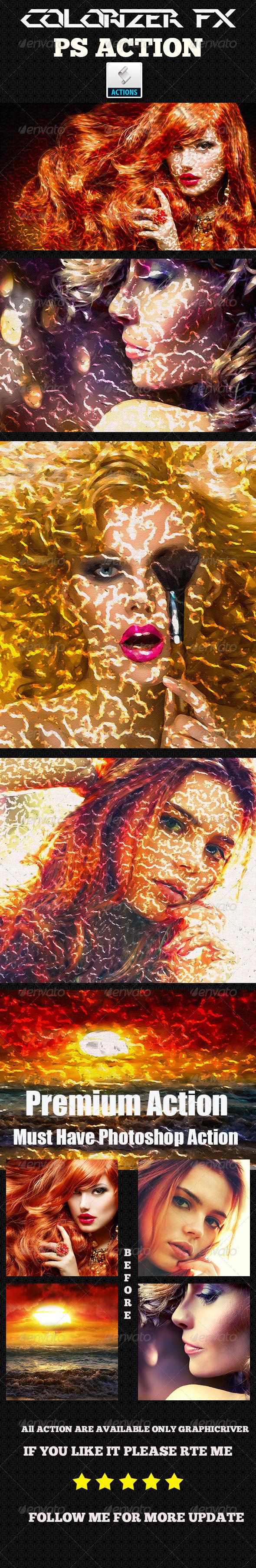 GraphicRiver Colorizer Fx Photoshop Action 8752372