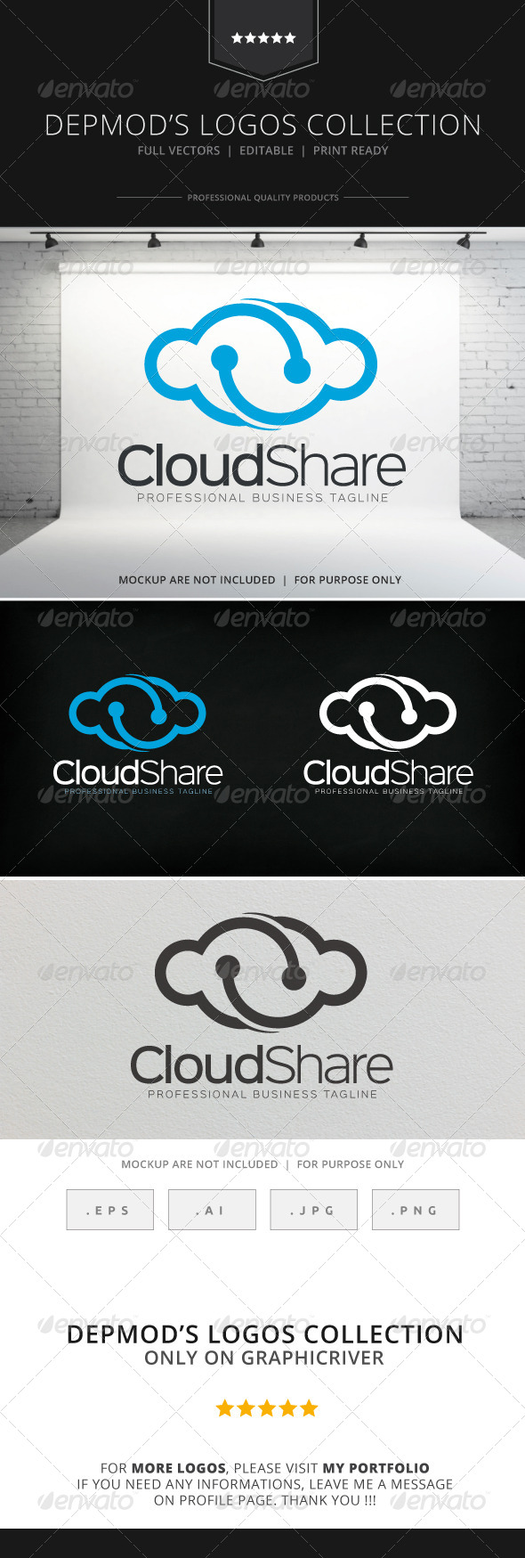 GraphicRiver Cloud Share Logo 8752808