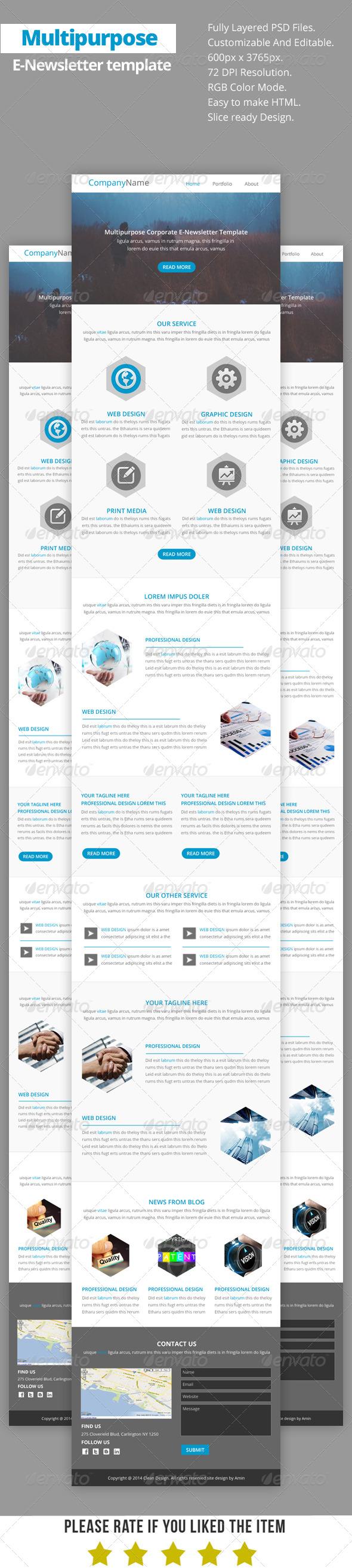 GraphicRiver Multipurpose E-Newsletter Template V15 8752916