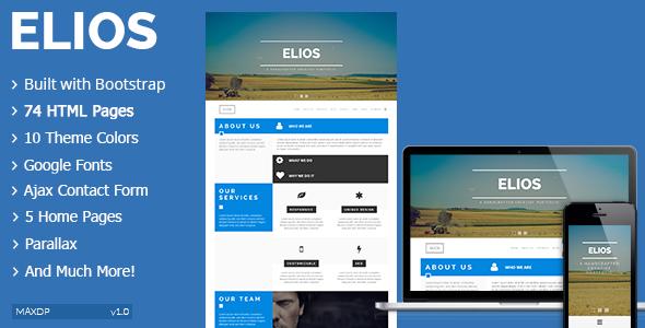 ThemeForest ELIOS Responsive Multipurpose HTML Template 8753146
