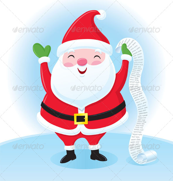 GraphicRiver Santa Claus with His List 8753186
