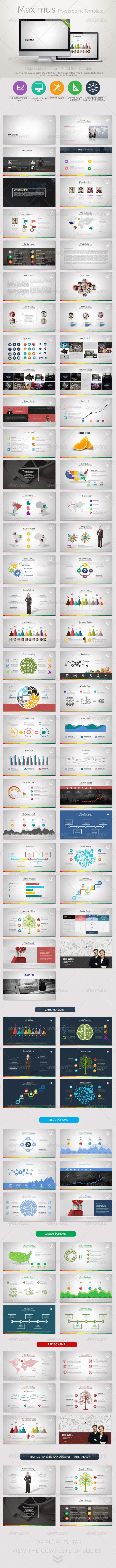 GraphicRiver Maximus PowerPoint Presentation Template 8753194