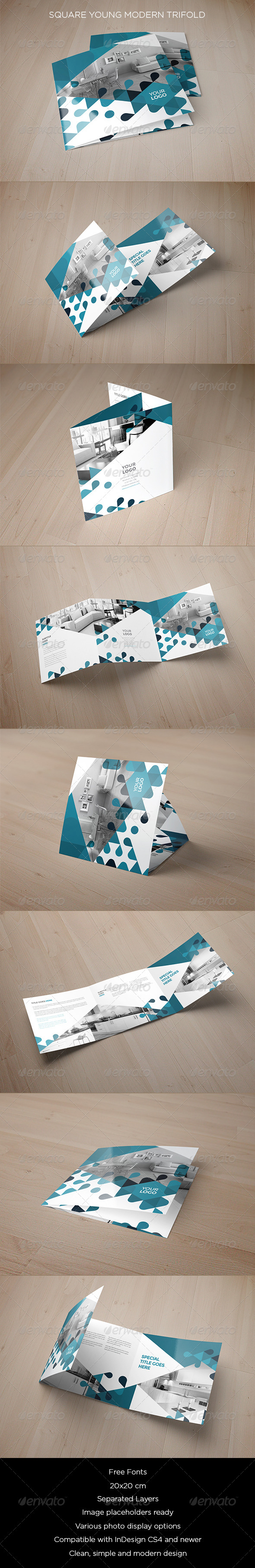 GraphicRiver Square Young Modern Trifold 8753192